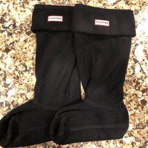 Hunter tall black fleece boot liner sz M new